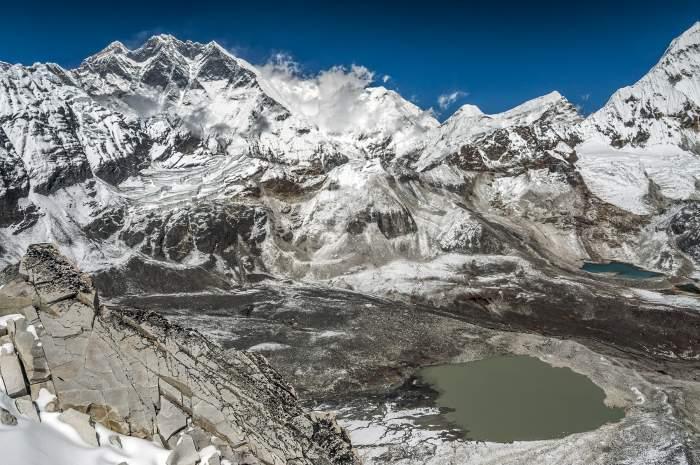 Amphu Lapsta pass, Everest-Lhotse-Cho Polu-Baruntse