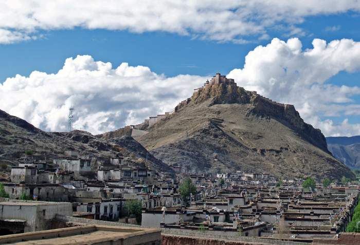 Old Gyantse and the Gyantse Dzong